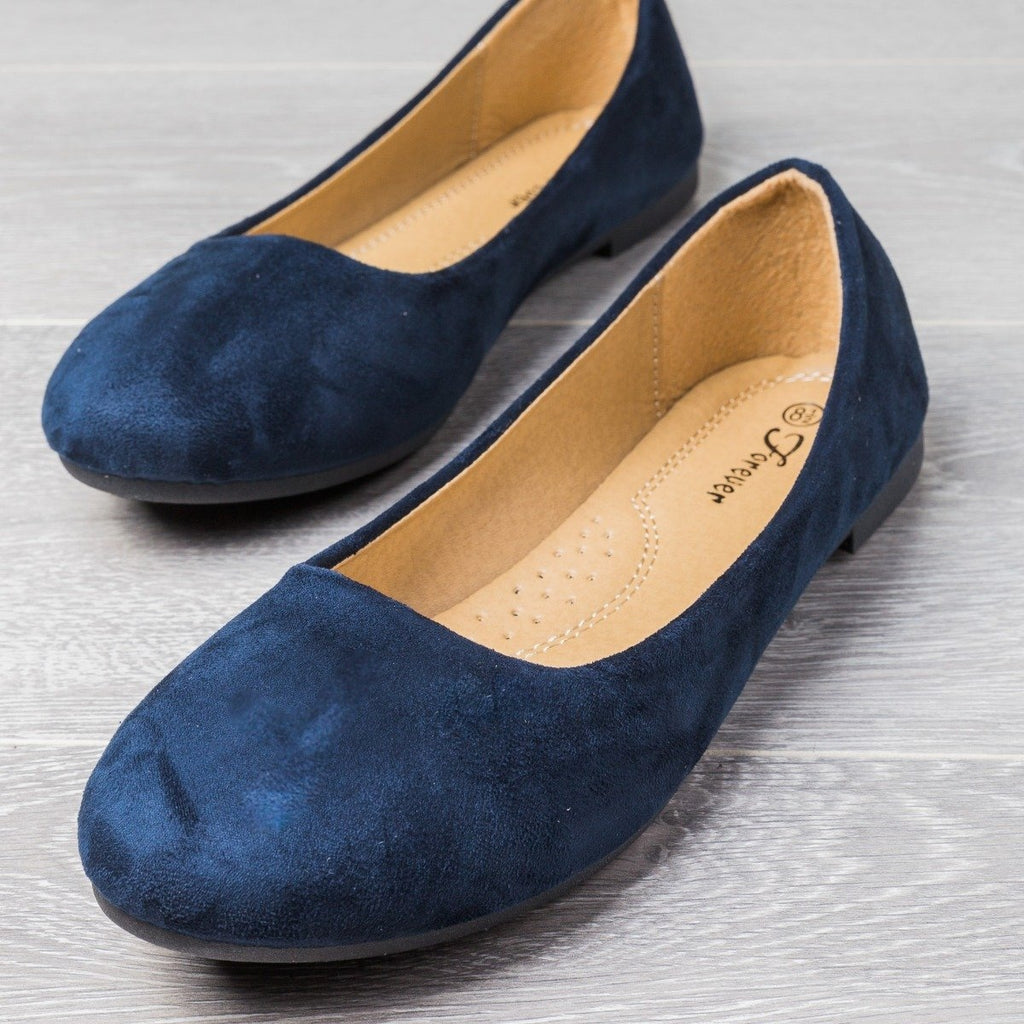Womens Perfect Everyday Flats - Forever - Navy / 5