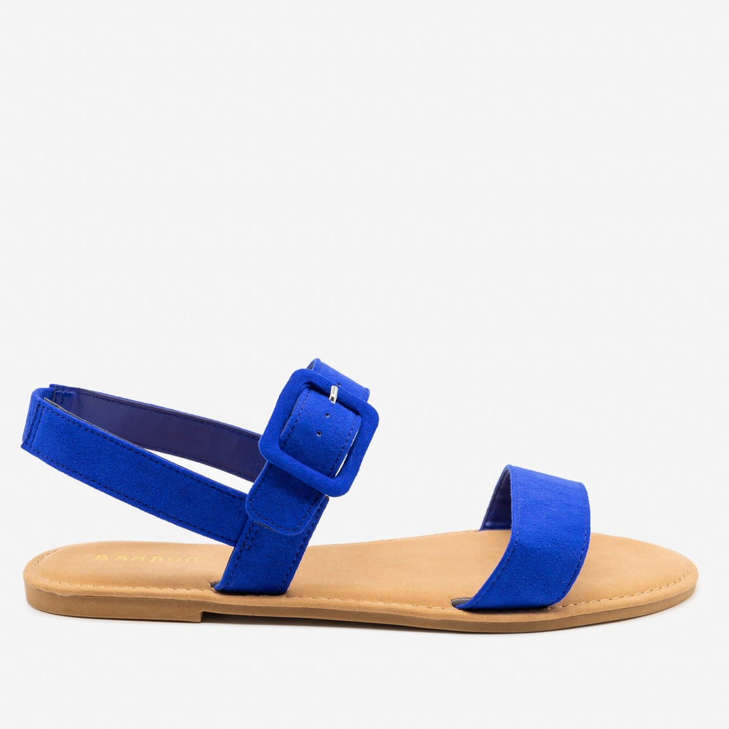 Women's Perfect Everyday Sandals - Bamboo Shoes - Electric Blue / 5
