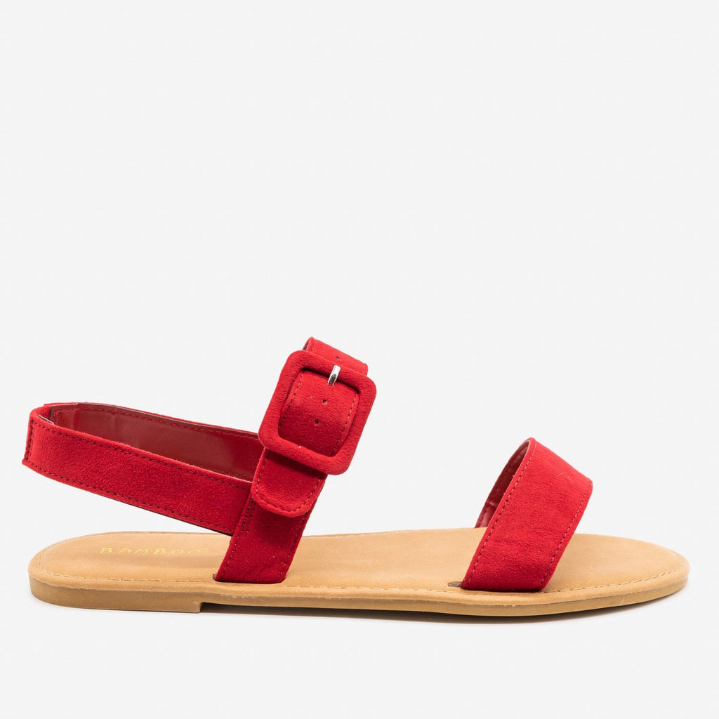 Women's Perfect Everyday Sandals - Bamboo Shoes - Red / 5