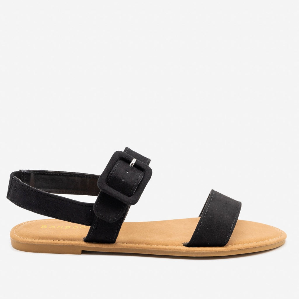 Women's Perfect Everyday Sandals - Bamboo Shoes - Black / 5