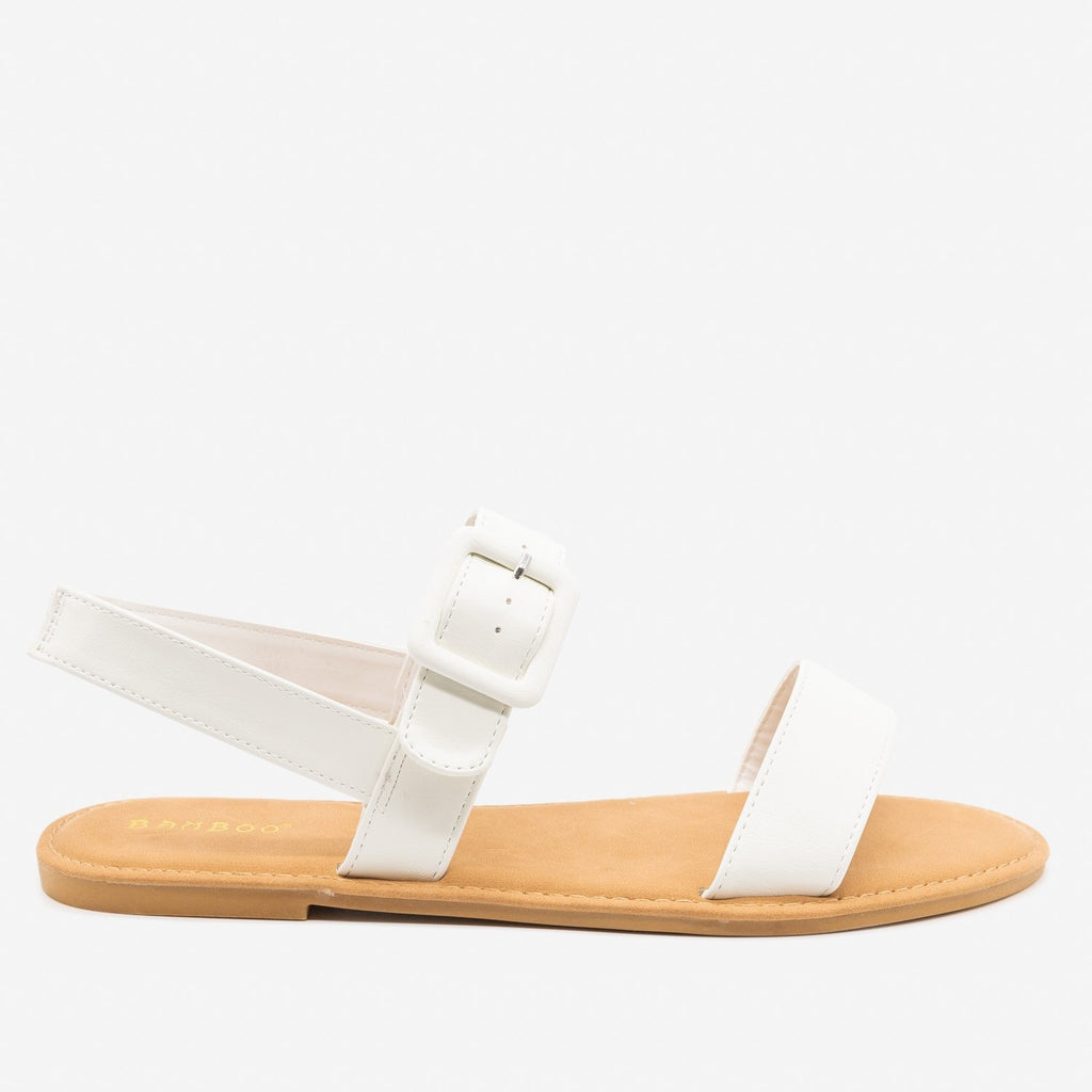 Women's Perfect Everyday Sandals - Bamboo Shoes - White / 5