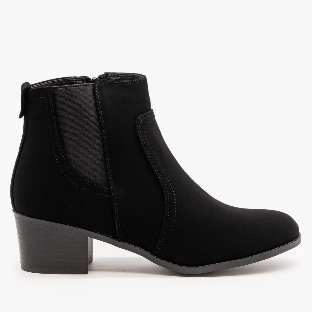 Womens Perfect Fall Ankle Booties - Forever - Black / 5