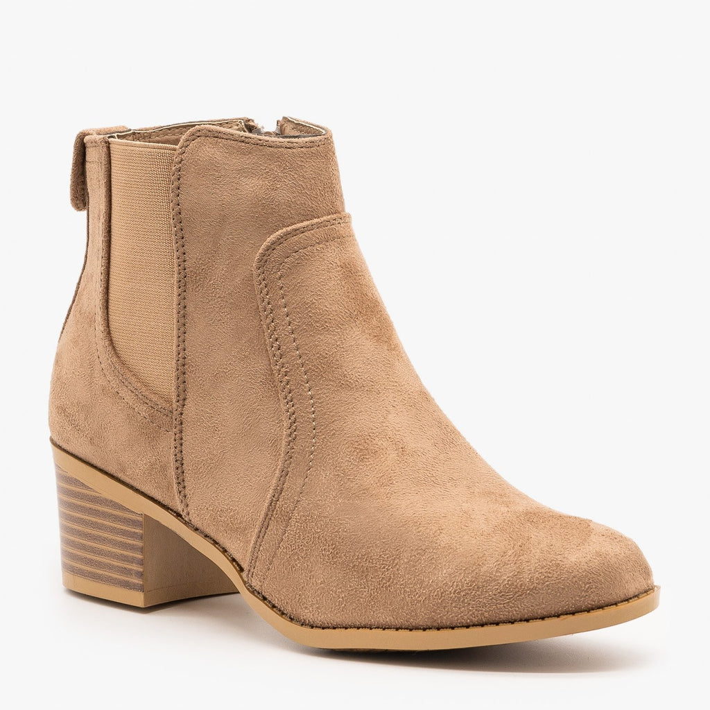 Womens Perfect Fall Ankle Booties - Forever