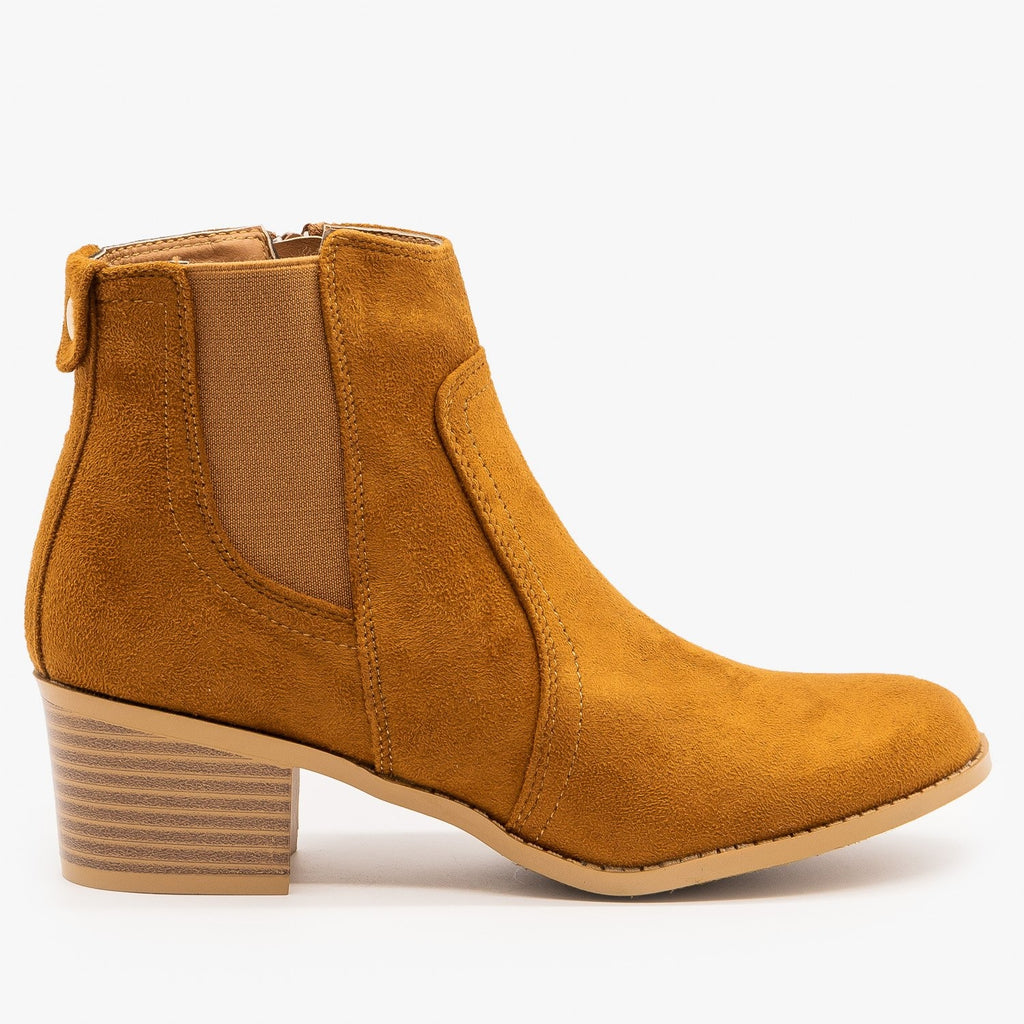 Womens Perfect Fall Ankle Booties - Forever - Tan / 5