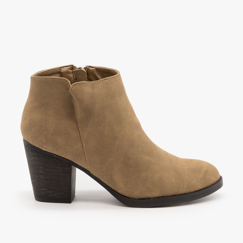 Womens Perfect Fall Booties - Bamboo Shoes - Taupe / 5