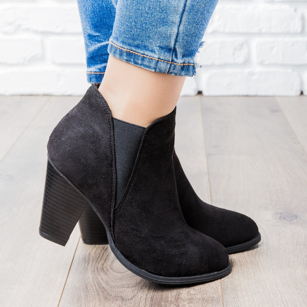 Womens Perfect Heel Bootie - Forever - Black / 5