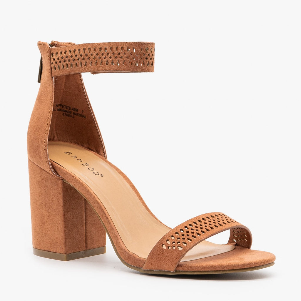 Womens Perfect Laser Cut Cuff Heels - Bamboo Shoes