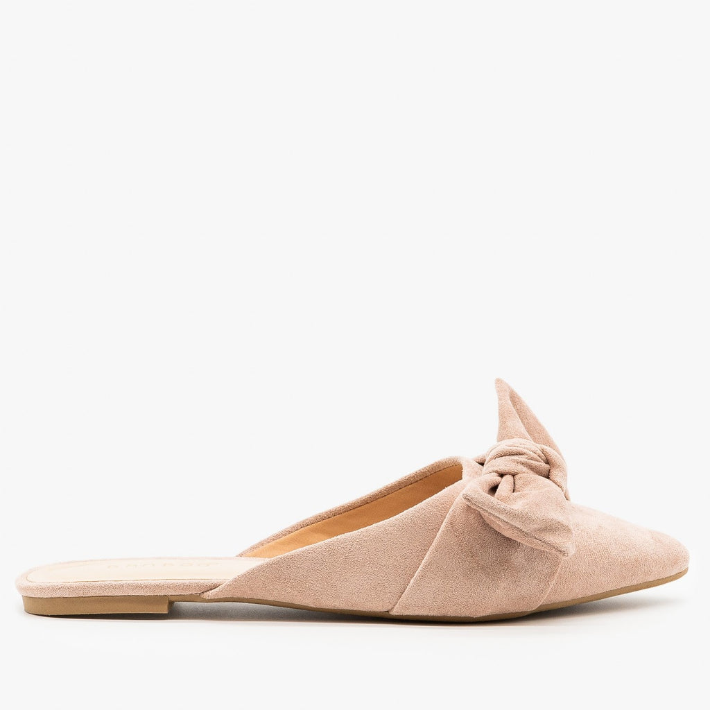 Womens Perfect Pointed Toe Mules - Bamboo Shoes - Dusty Rose / 5