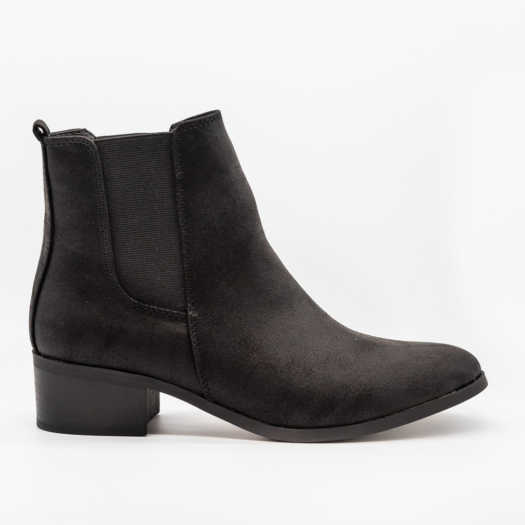 Womens Perfect Posh Chelsea Boots - Qupid Shoes - Black / 5