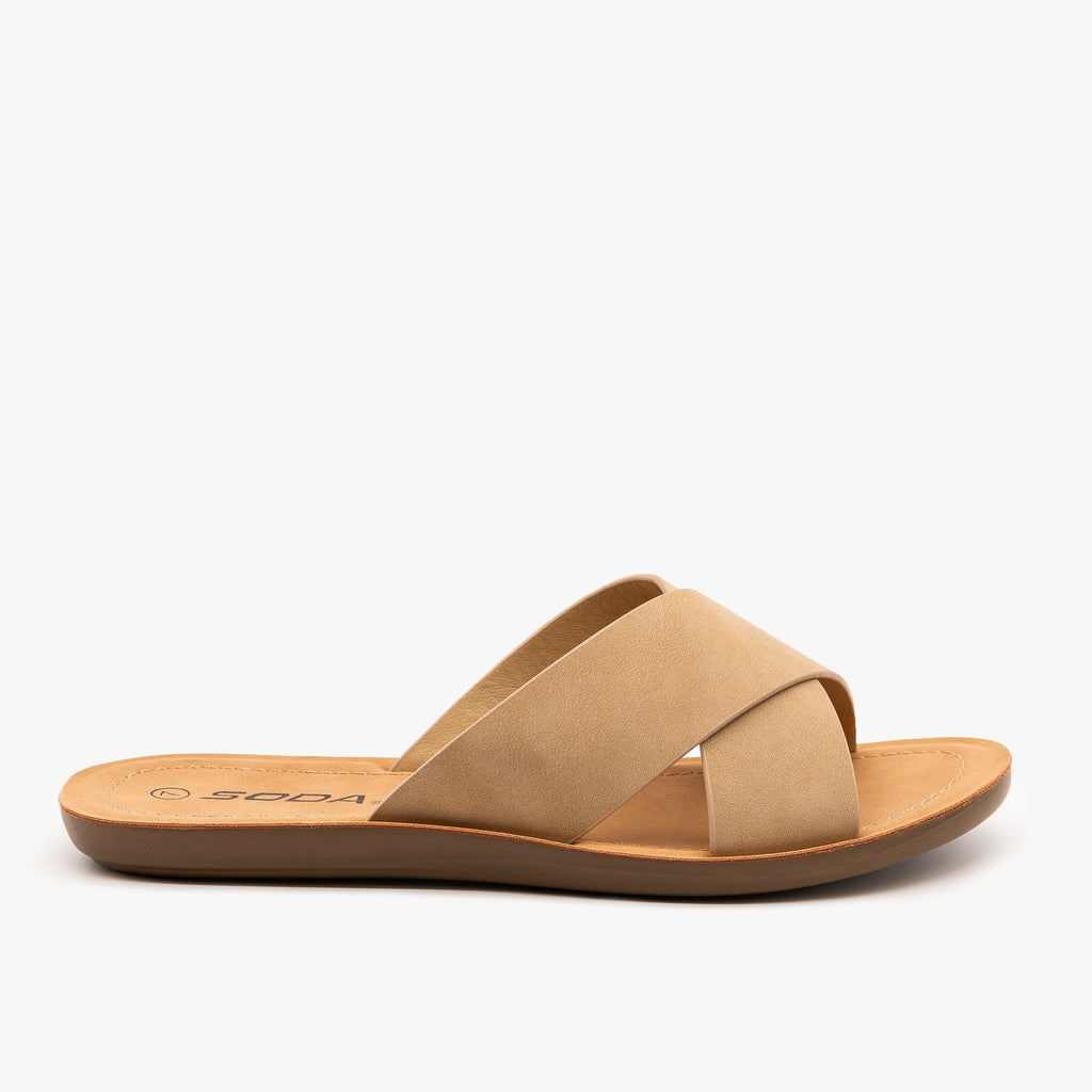 Womens Perfect Simple Sandals - Soda Shoes