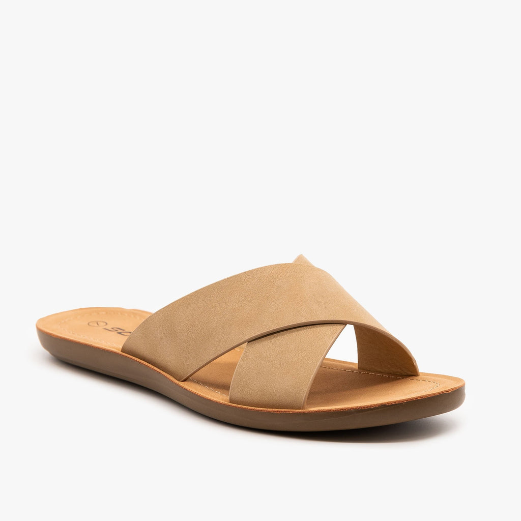 Womens Perfect Simple Sandals - Soda Shoes - Natural / 5