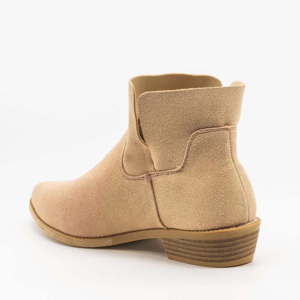 Womens Perfect Stitched Ankle Booties - ML Shoes