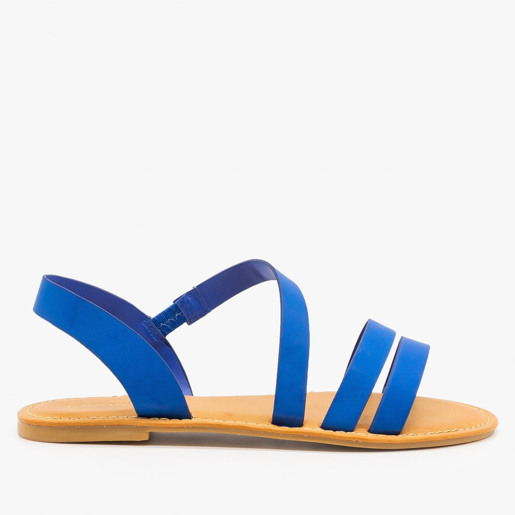 Womens Perfect Strappy Sandals - Bamboo Shoes - Sapphire / 5
