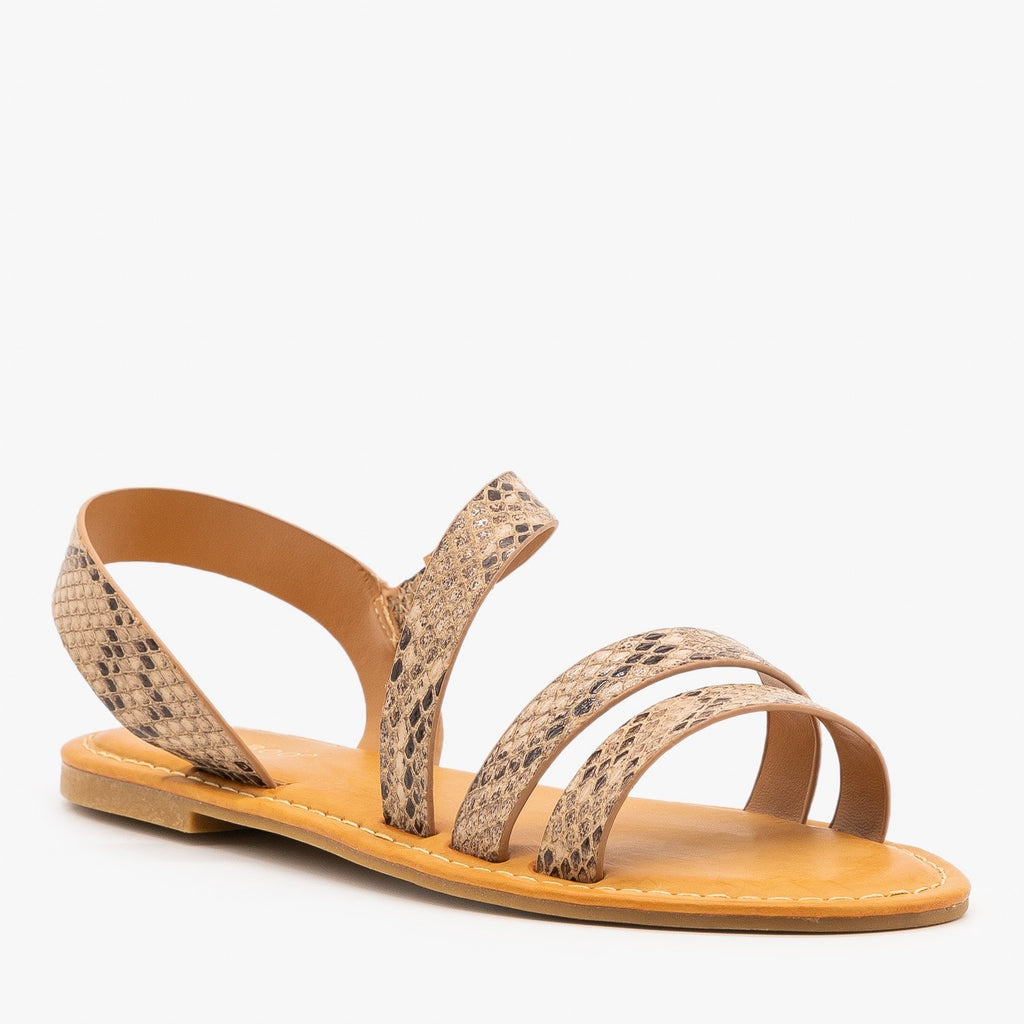 Womens Perfect Strappy Sandals - Bamboo Shoes