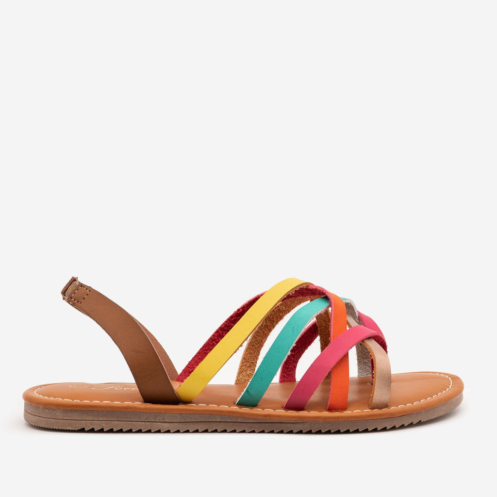Women's Perfect Strappy Slingback Sandals - Forever - Multi / 5