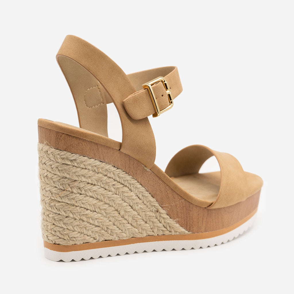Women's Perfect Summer Espadrille Wedges - Soda Shoes