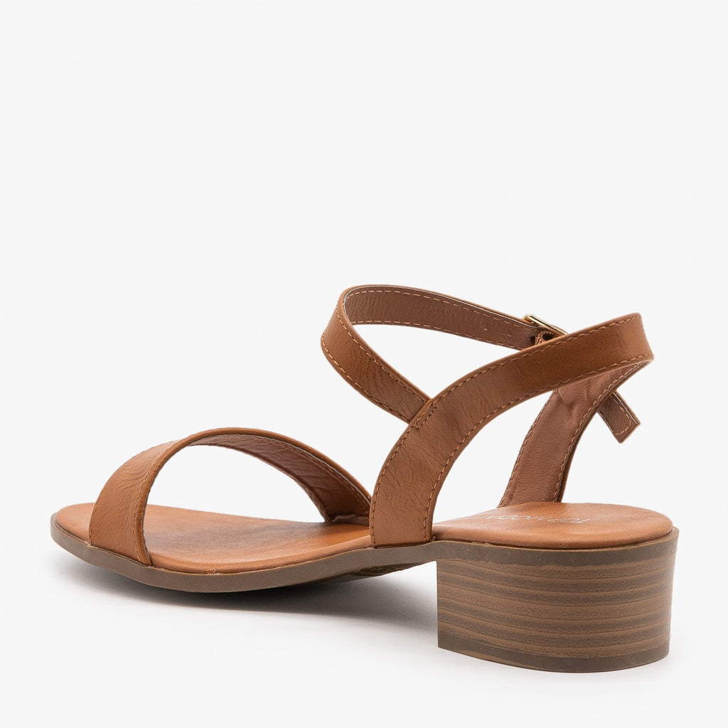 Womens Perfect Summer Mid-Heel Sandals - Top Moda