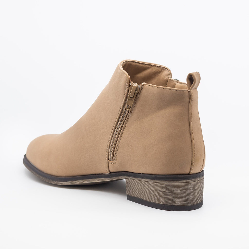 Womens Perfect Zipper Booties - Bamboo Shoes