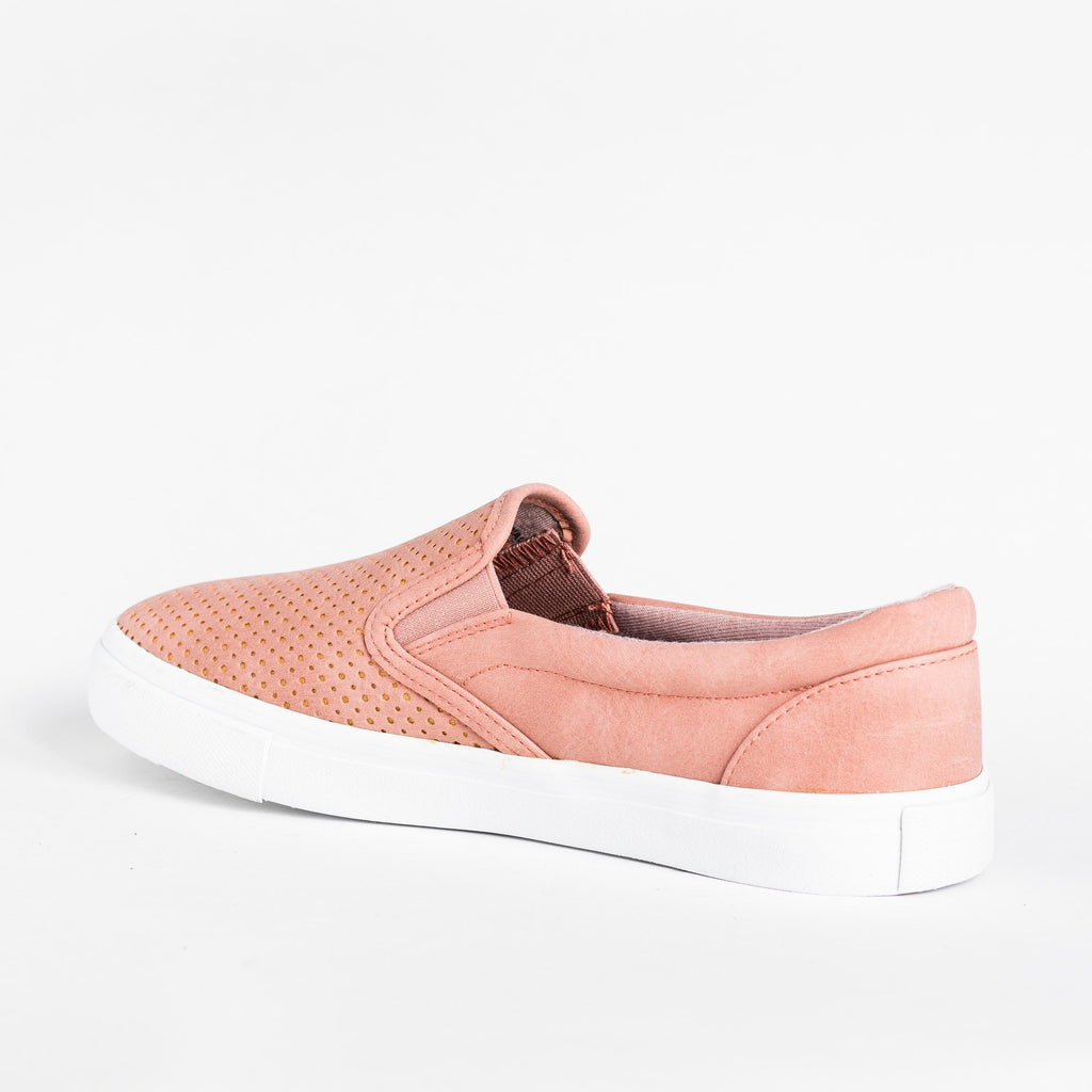 Womens Pinhole Slip-On Summer Sneakers - Soda Shoes