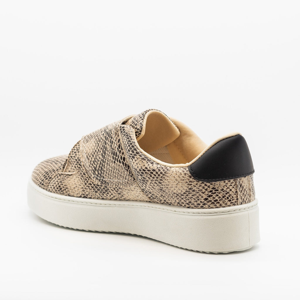Womens Platform Velcro Strap Sneakers - Qupid Shoes