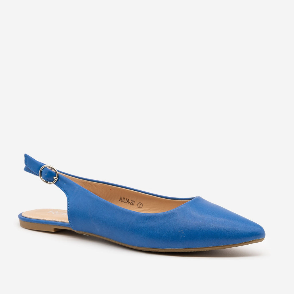 Women's Pointed Toe Slingback Flats - Refresh