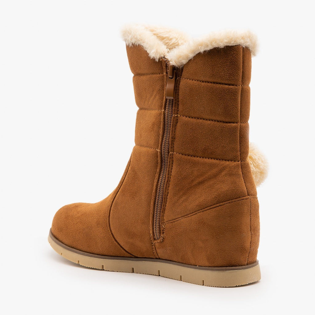 Womens Pompom Tassled Winter Boots - Lucita Shoes