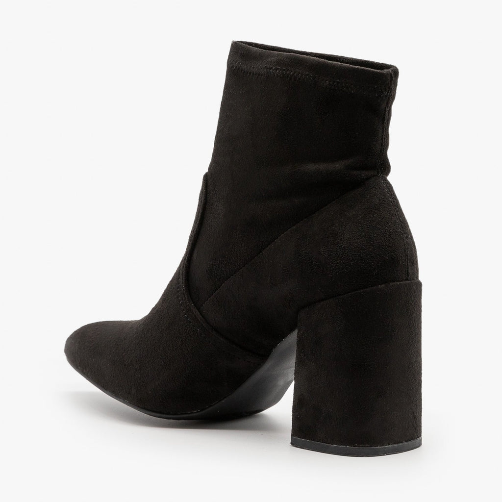 Womens Posh Ankle Booties - Qupid Shoes