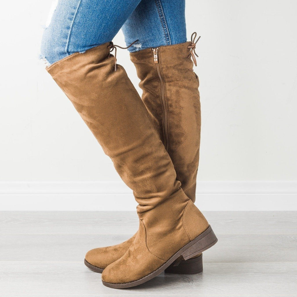 Womens Posh Knee-High Riding Boot - Weeboo - Brown / 5