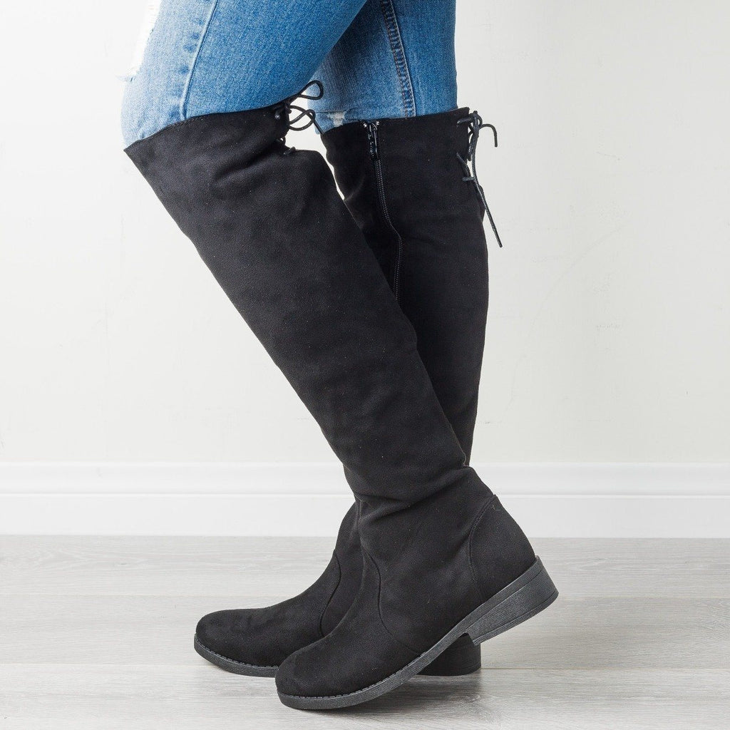 Womens Posh Knee-High Riding Boot - Weeboo
