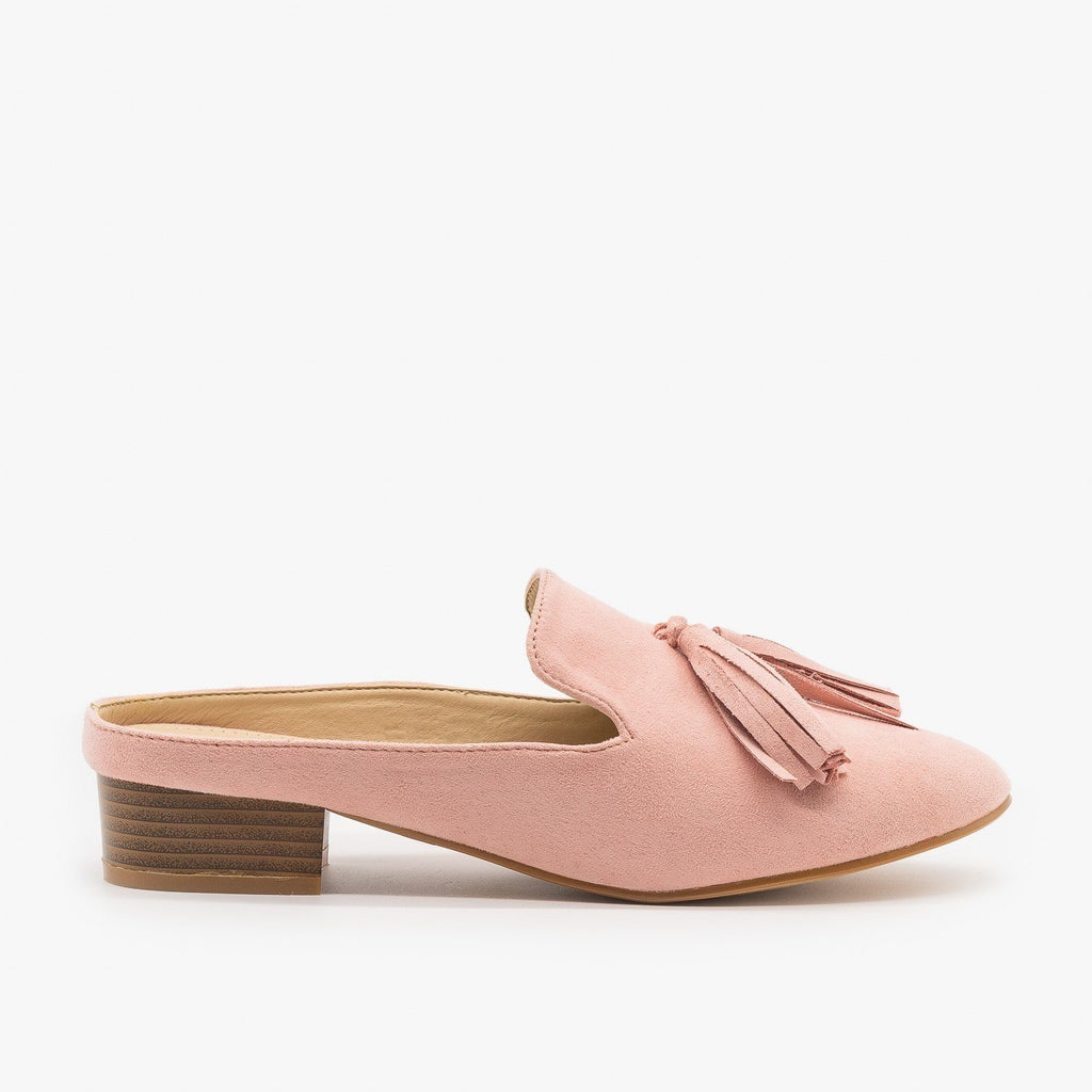 Womens Posh Loafer-Style Mules - ML Shoes