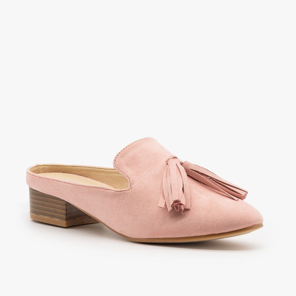 Womens Posh Loafer-Style Mules - ML Shoes - Rose / 5
