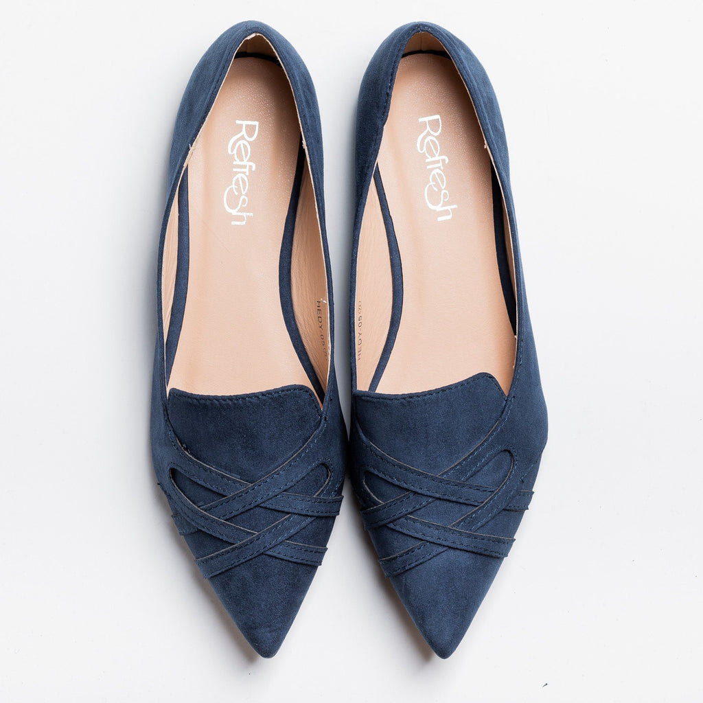 Posh Pointed Toe Flats Refresh Shoes