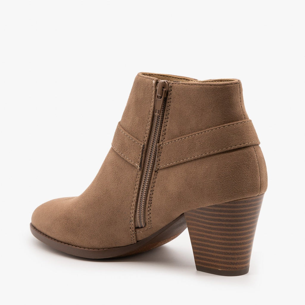 Womens Posh Side Knot Booties - City Classified Shoes