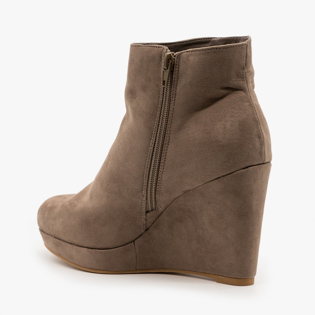Womens Posh Wedge Booties - Bamboo Shoes