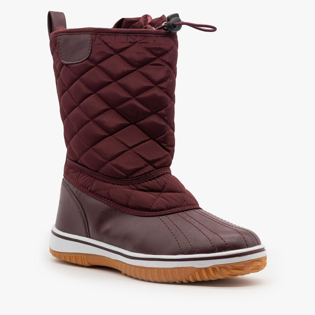 Womens Quilted Duck Boots - Refresh