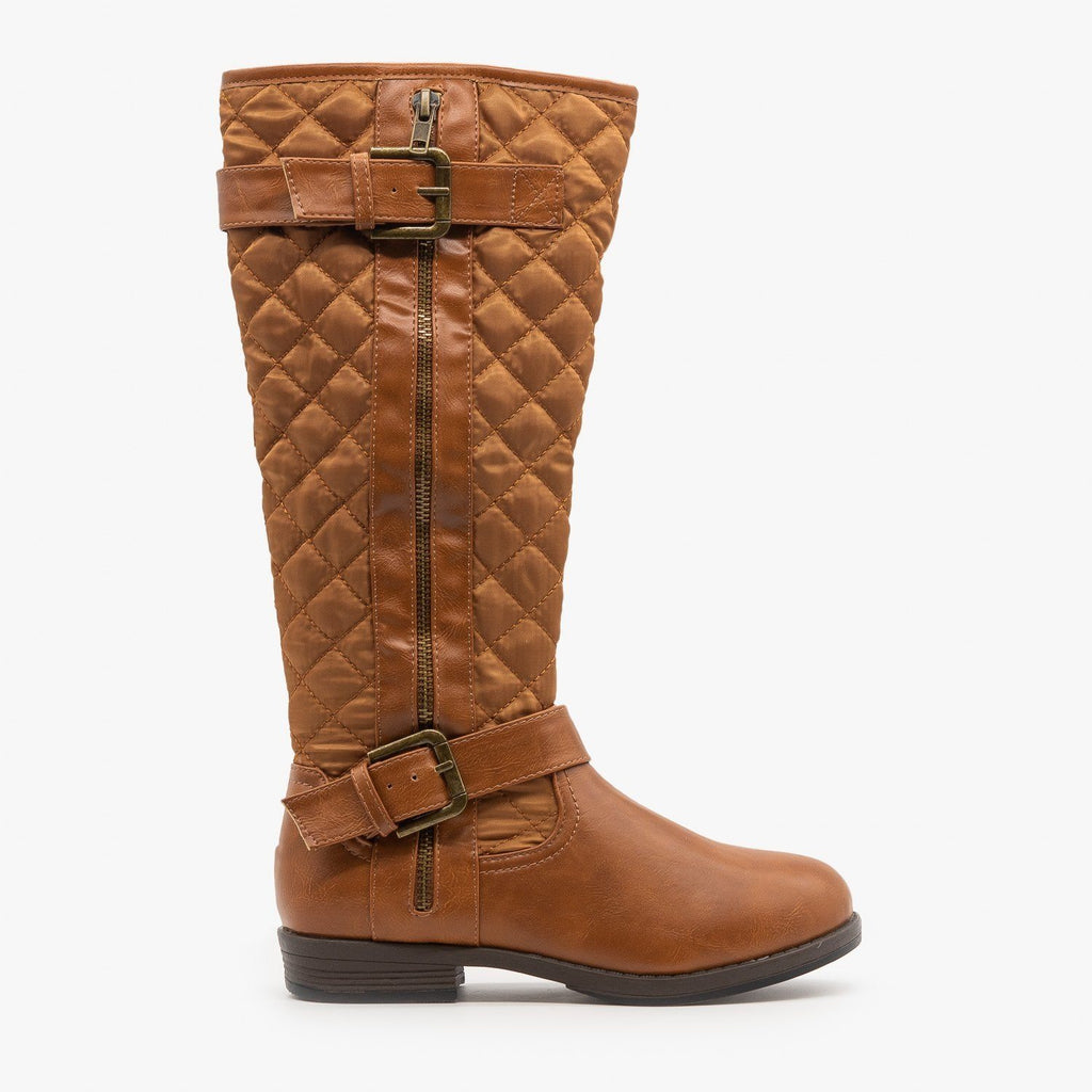 Womens Quilted Riding Boots - Glister