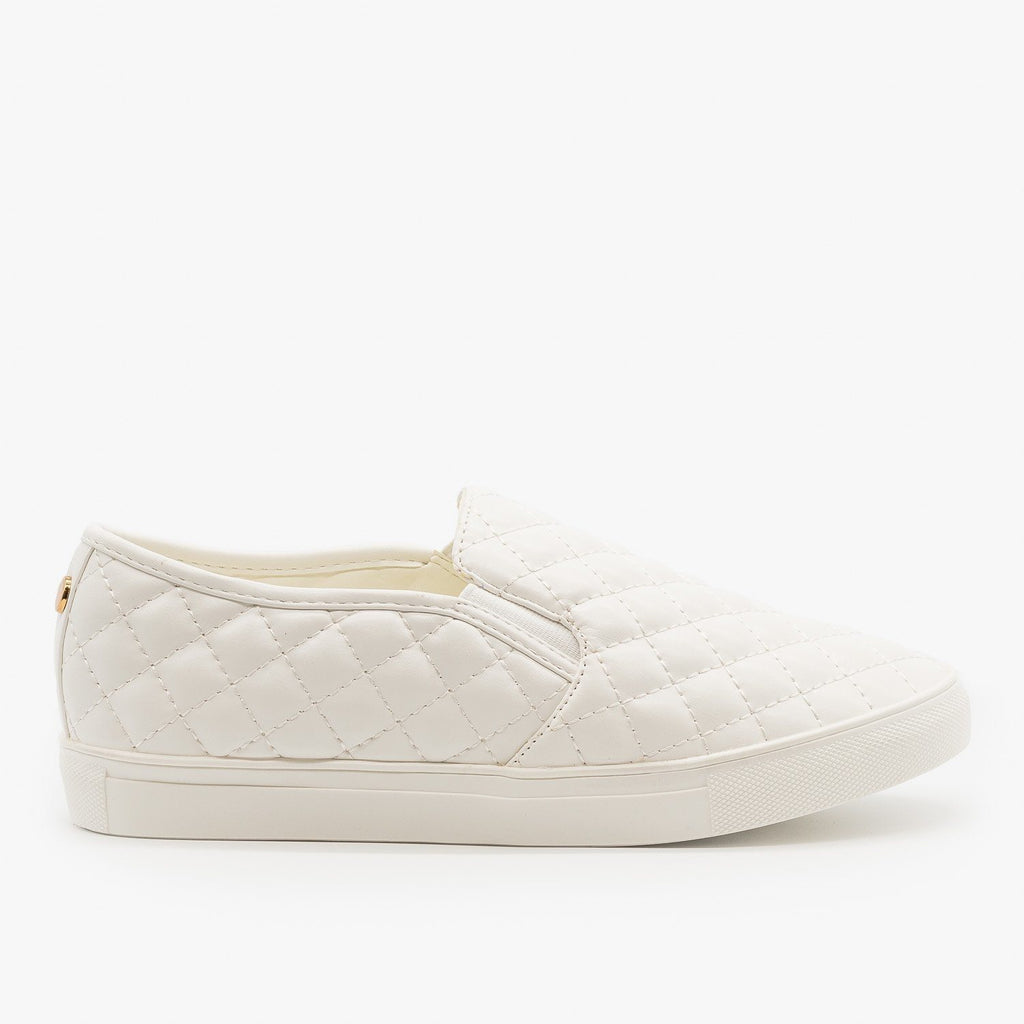 Womens Quilted Slip On Sneakers - La Sheelah Shoes