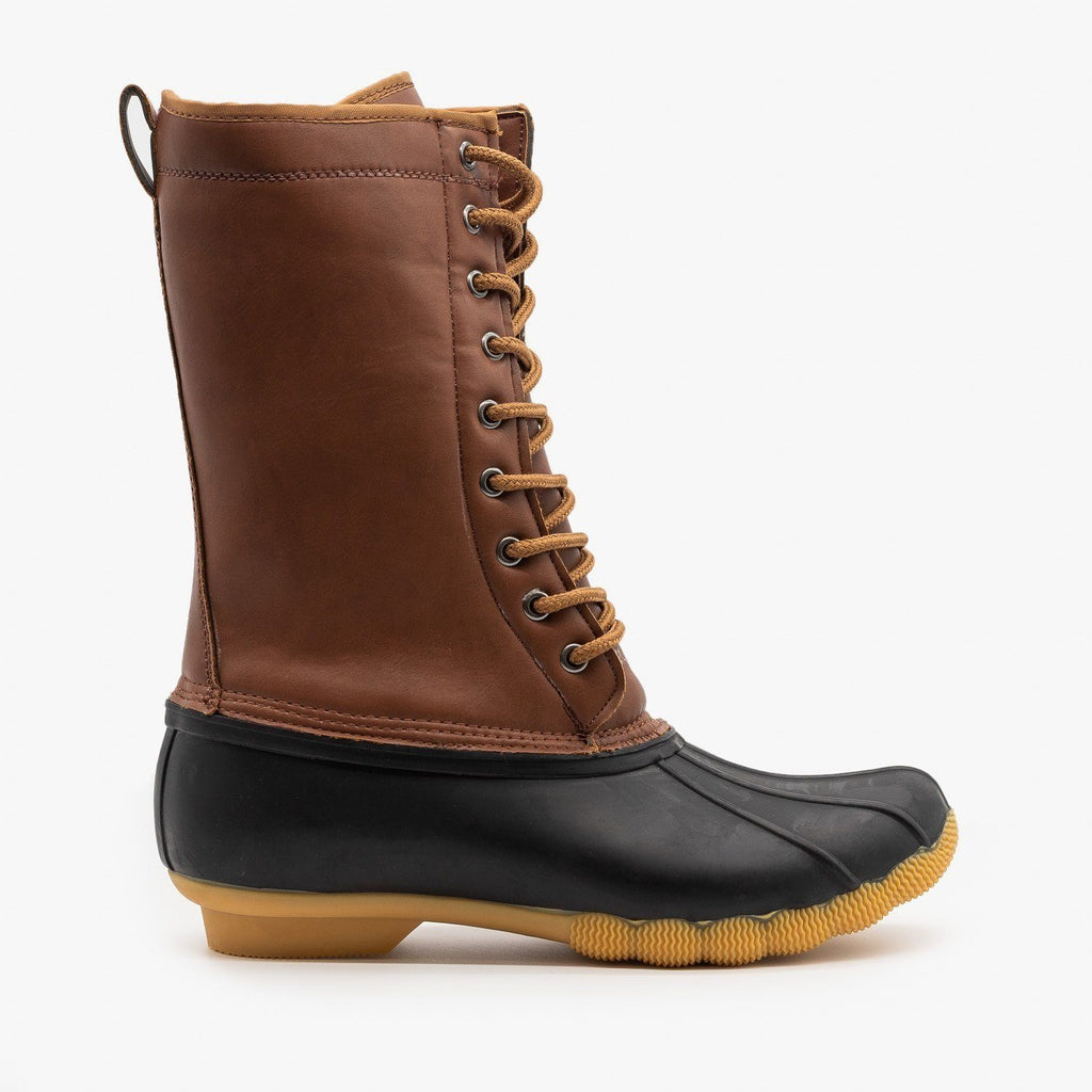 Womens Rainy Day Duck Boots - Refresh - Cognac / 5