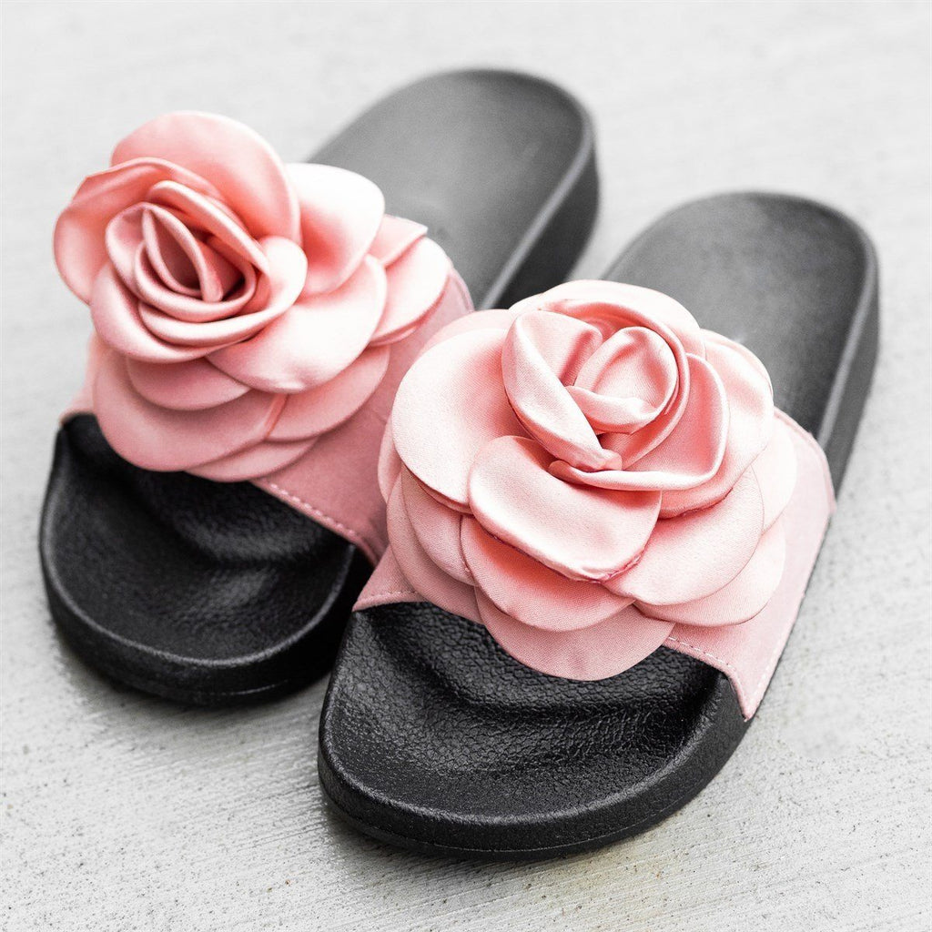 Womens Rose Fashion Slides - Refresh - Mauve / 5