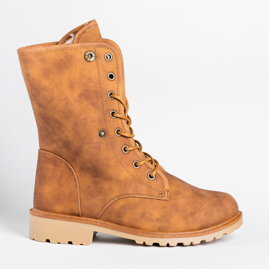 Women's Rugged Outdoor Boots - Forever - Tan / 5