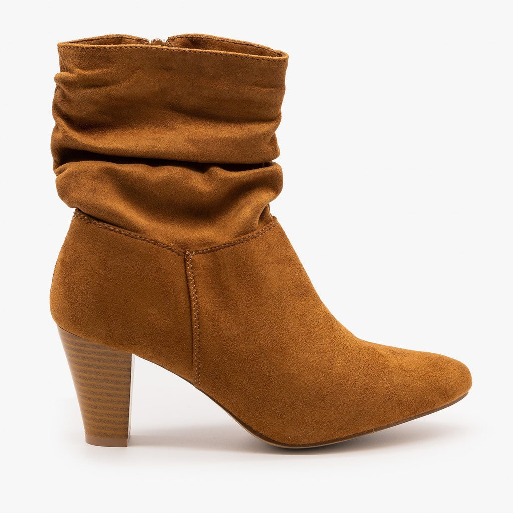 Womens Sassy Ankle Boots - Refresh - Tan / 5