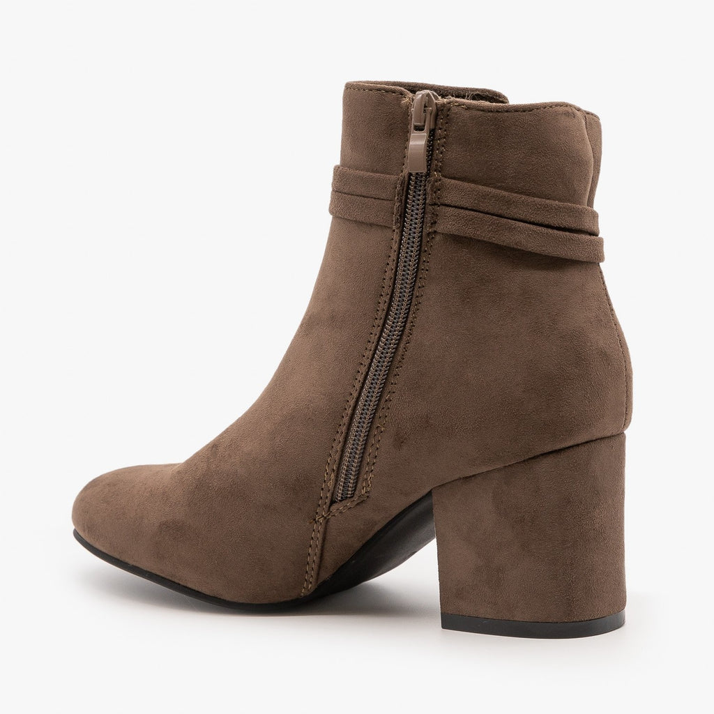 Womens Sassy Belted Tassel Booties - Refresh