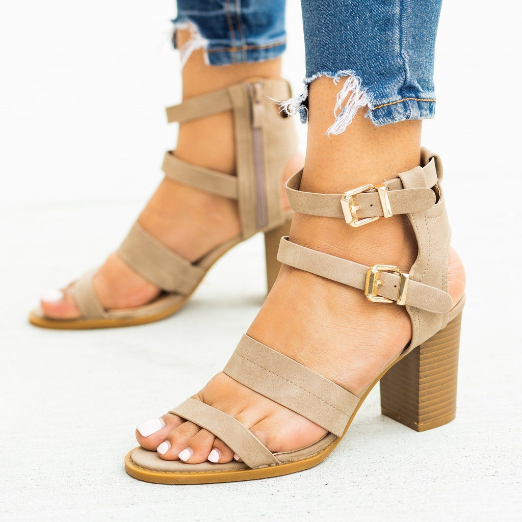 Womens Sassy Caged Buckled High Heels - Lovmark