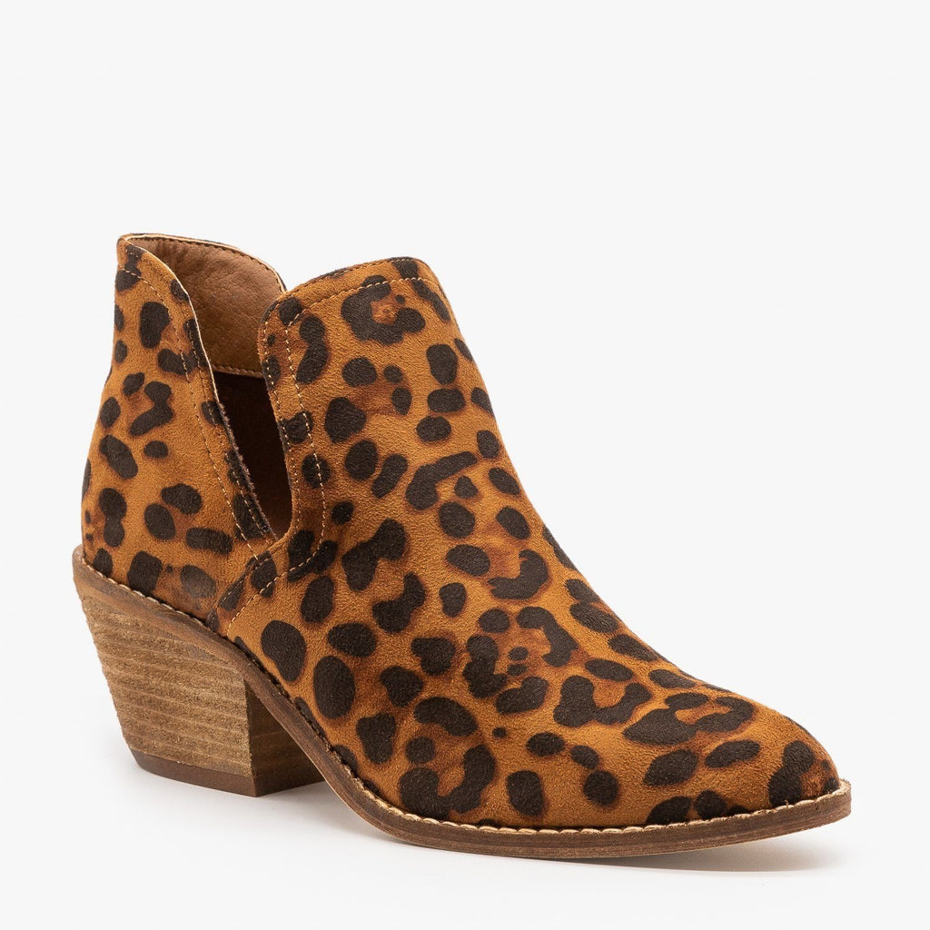 Womens Sassy Cutout Fashion Booties - Beast Shoes