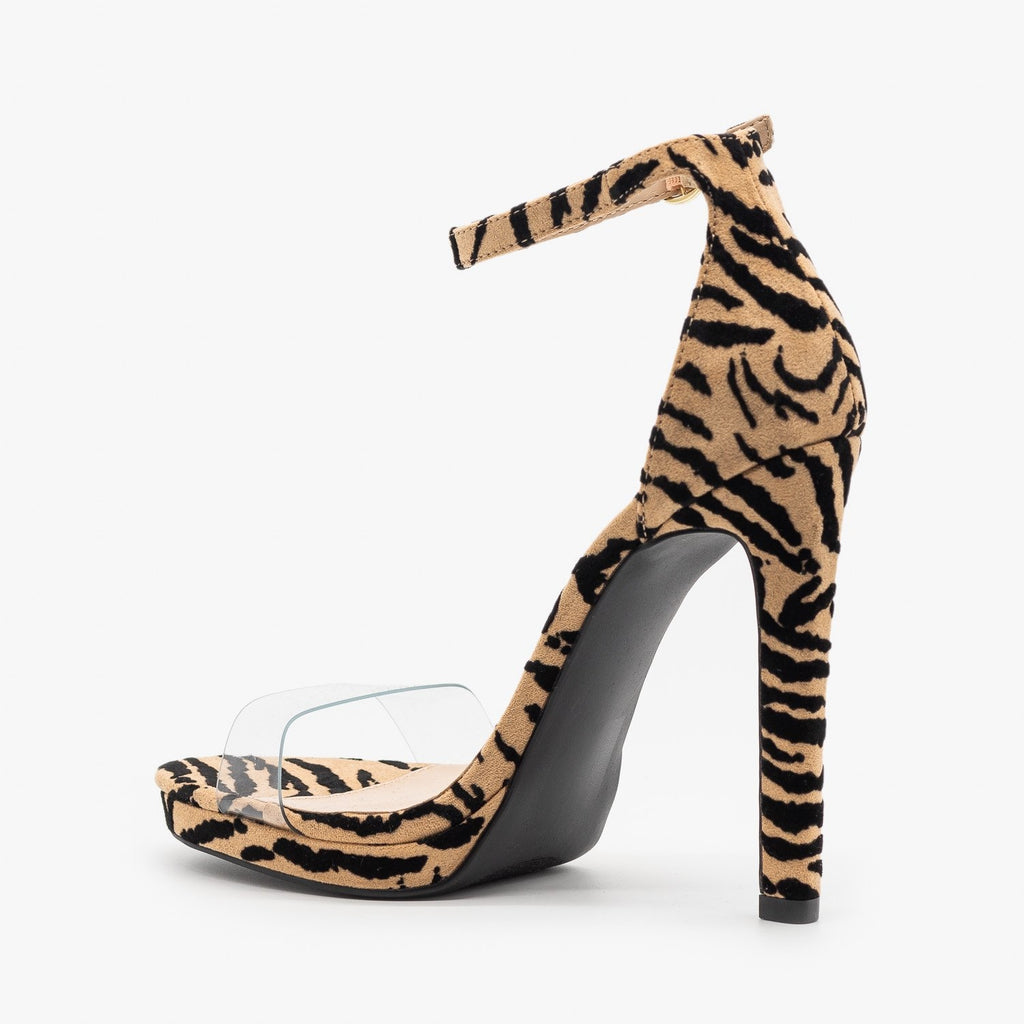 Womens Sassy Diva Animal Print High Heels - Qupid Shoes