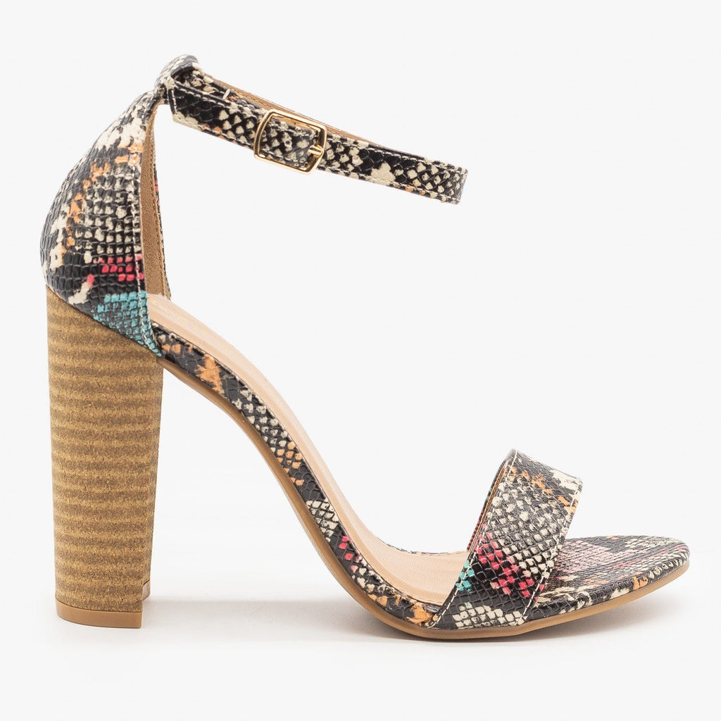 Womens Sassy Diva High Heels - Mark & Maddux - Multi Snake / 5