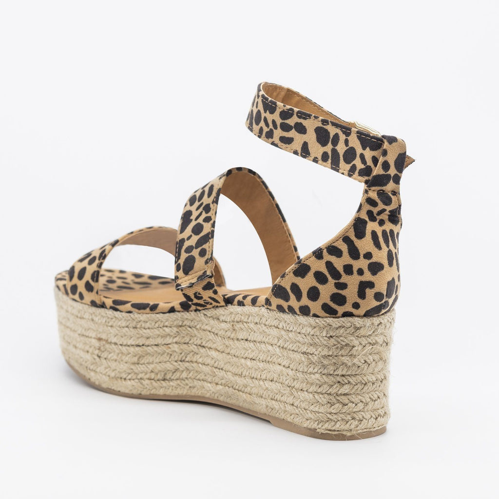 Womens Sassy Espadrille Flatform Sandals - Qupid Shoes