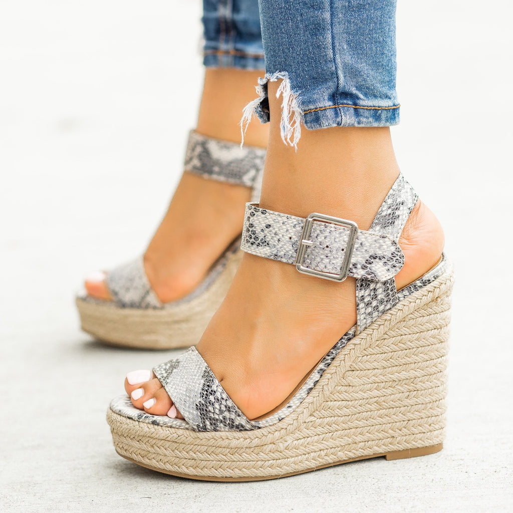 Womens Sassy Espadrille Sandal Wedges - Delicious Shoes