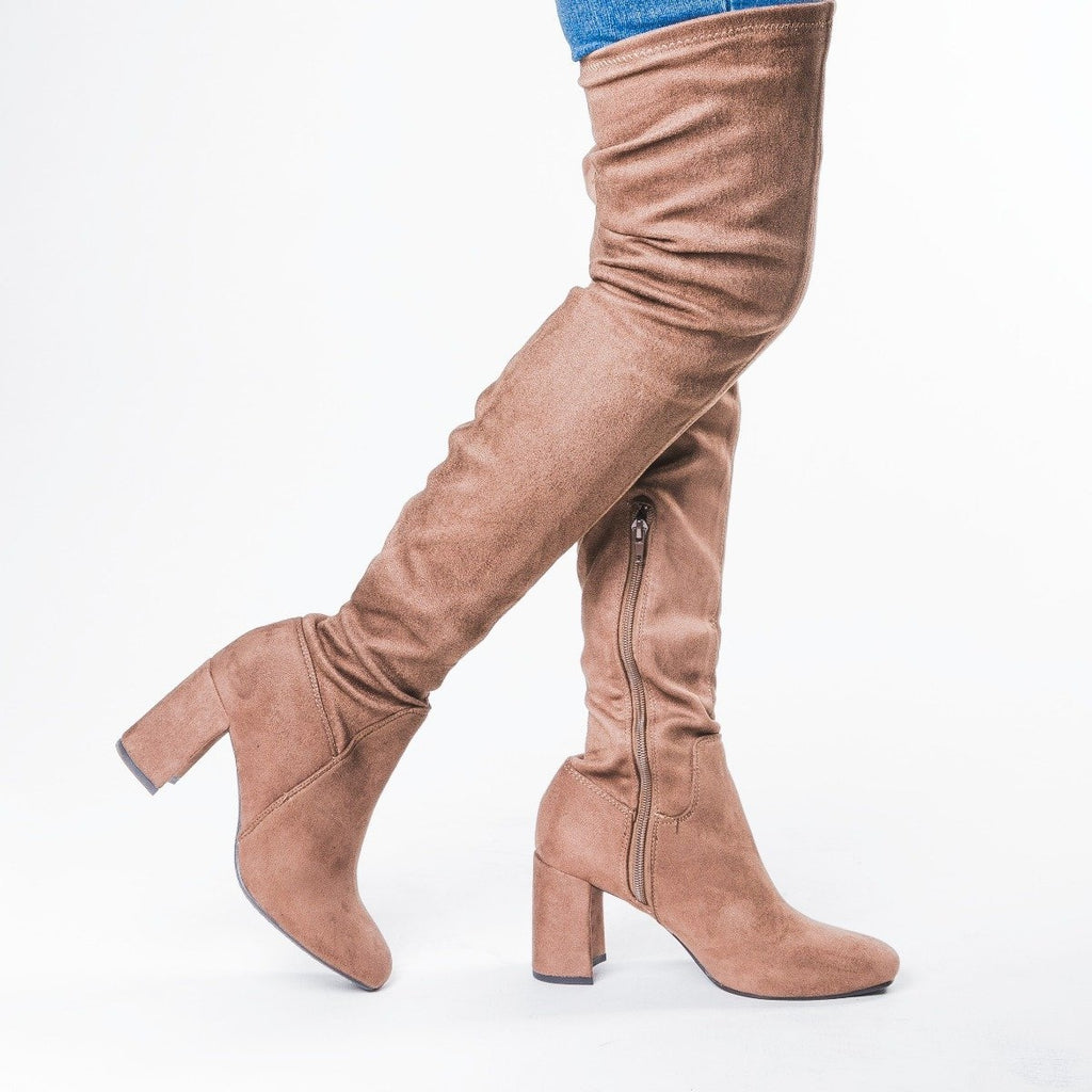 Womens Sassy Over-the-Knee Boots - Speedlimit 98 Shoes