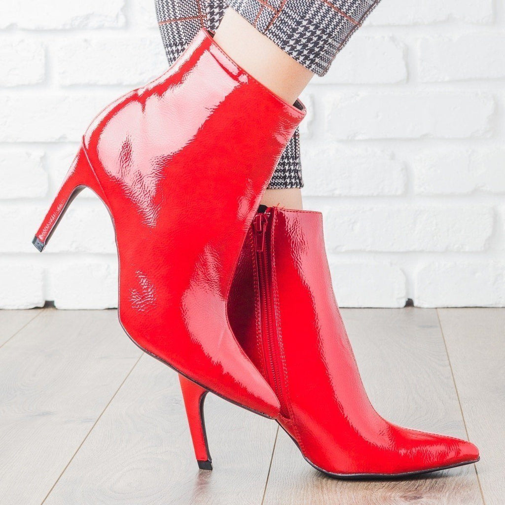 Womens Sassy Stiletto Heel Booties - Qupid Shoes